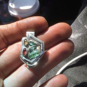 Jewelry - .925 sterling pendant, genuine Ruby Sapphire